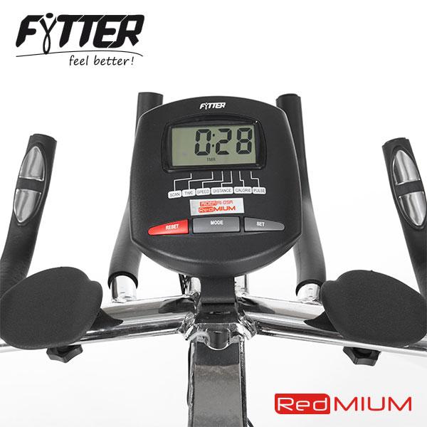 Manillar y monitor de la bicicleta