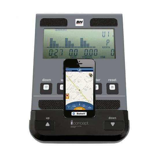 Monitor y Smartphone para bicicleta Indoor BH Fitness Spada Dual dotado de Dual Kit i.Concept 2019