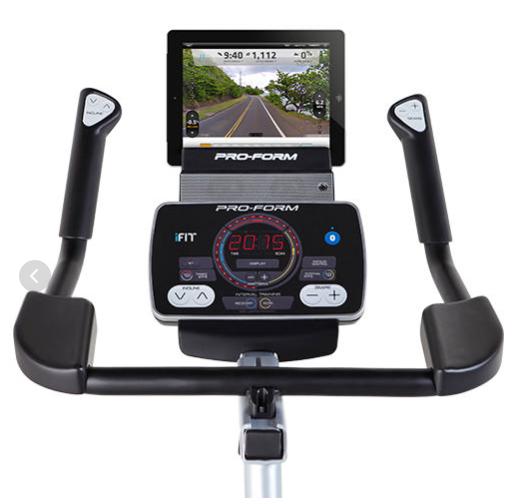 Manillar con consola y adaptador para tablet de la bicicleta de spinning Proform Tour de France 1.0.