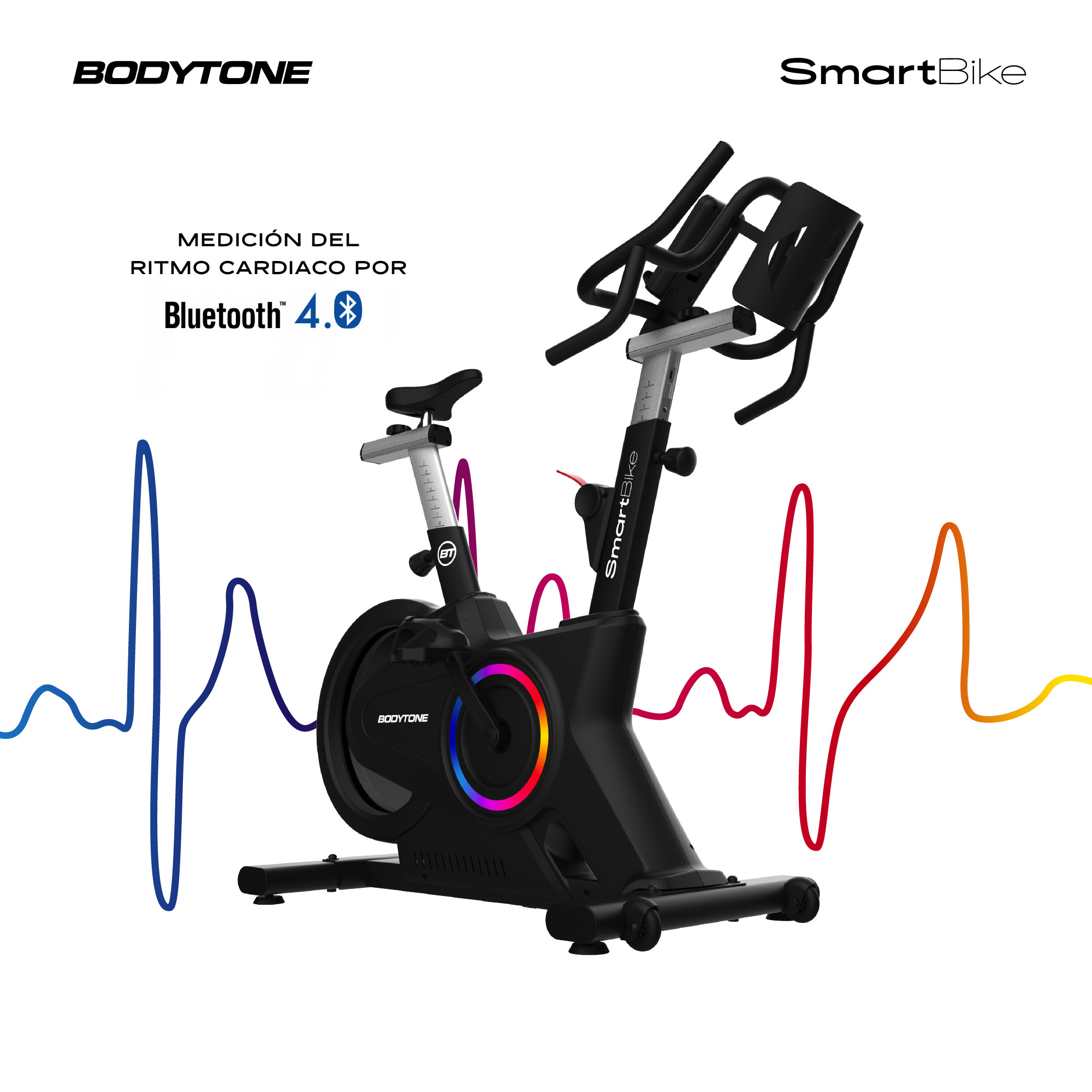 Frontal de Bodytone SMB1 V2 Smart Bike Ciclo Indoor